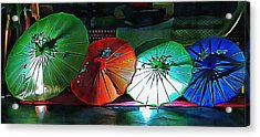 Acrylic Print featuring the photograph Illuminated Oriental Parasols by Dorothy Berry-Lound
