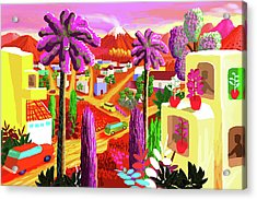 Illustration And Panting Acrylic Print by Charles Harker