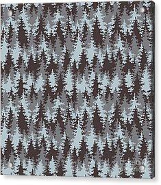 Illustration Coniferous Forest Acrylic Print