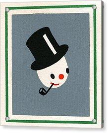 Illustration Of Christmas Snowman Acrylic Print