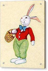 Illustration Of Easter Bunny Acrylic Print