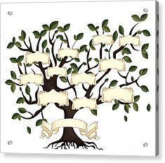Illustration Of Family Tree With Acrylic Print