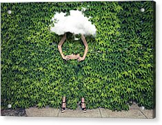 Image Of Young Woman On Ivy Plants And Acrylic Print by Francesco Carta Fotografo