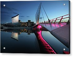 Imperial War Museum With Swing Bridge Acrylic Print