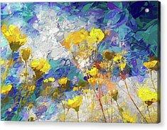 Impressions Of Desert Sunflowers Acrylic Print