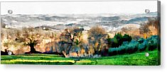 Impressions Of Early Morning In Umbria Acrylic Print