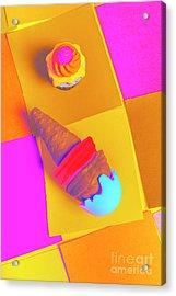 In Bubblegum Tones Acrylic Print