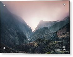 In The Mist Of The Hills Acrylic Print
