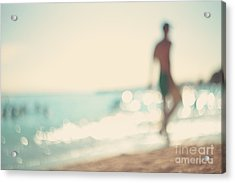 In The Summer Vacation.silhouette Of A Acrylic Print