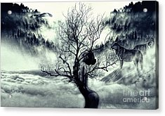 In Winter The Trees Are Naked Acrylic Print