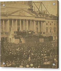 Inauguration Of Abraham Lincoln, March 4, 1861 Acrylic Print