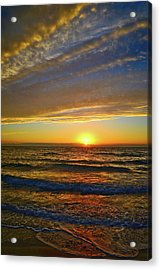 Acrylic Print featuring the photograph Incredible Sunrise Over The Atlantic Ocean by Lynn Bauer