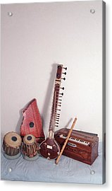India, Indian Musical Instruments Acrylic Print