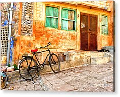 India. Indian Street In Rajasthan Acrylic Print