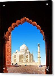 India Taj Mahal. Indian Palace Tajmahal Acrylic Print