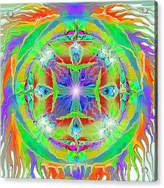 Indian Mandala Acrylic Print