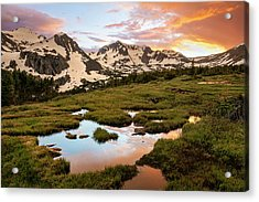 Indian Peaks Sunset Acrylic Print by Aaron Spong