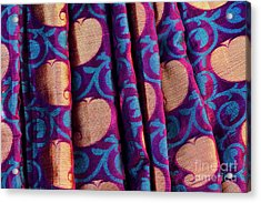 Acrylic Print featuring the photograph Indian Silk Sari Pattern by Tim Gainey