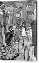 Inflatable King Kong On The Empire Acrylic Print by New York Daily News Archive