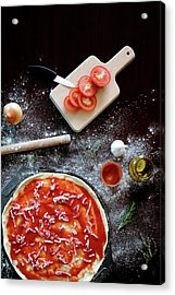 Ingredients For Pizza Acrylic Print