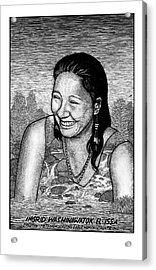 Ingrid Washinawatok El-issa Acrylic Print by Ricardo Levins Morales