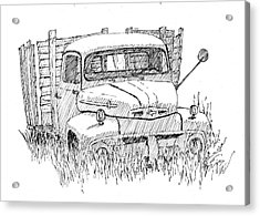 Inktober 2018 No 2 Abandoned Ford Truck Acrylic Print