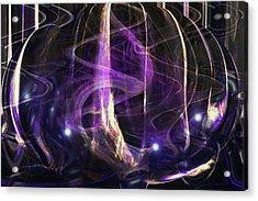 Inside My Purple Bubble Acrylic Print