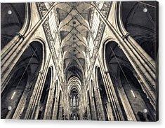 Inside Of St. Vitus Church Acrylic Print by Shan.shihan
