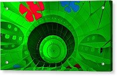 Inside The Green Balloon Acrylic Print