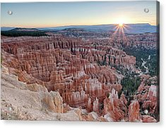 Acrylic Print featuring the photograph Inspiration Point Sunrise Bryce Canyon National Park Summer Solstice by Nathan Bush