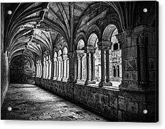 Acrylic Print featuring the photograph Interior Corridors Of The Monastery Of Santo Estevo De Ribas Del Sil by Eduardo Jose Accorinti