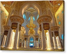 Interior Of Shiekh Zayed Mosque Acrylic Print