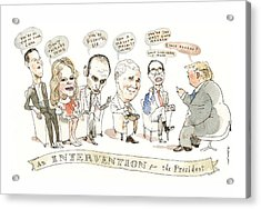 Intervention For The President Acrylic Print