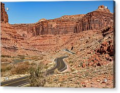 Acrylic Print featuring the photograph Into The Red Cliffs by Andy Crawford