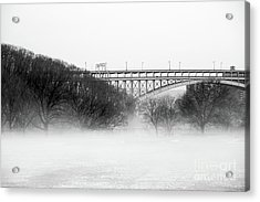 Acrylic Print featuring the photograph Inwood Hill With Fog by Cole Thompson