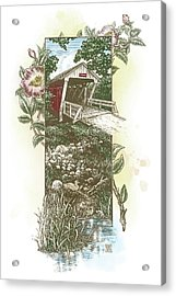 Iowa Covered Bridge Acrylic Print
