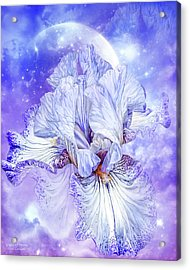 Acrylic Print featuring the mixed media Iris - Goddess Of Dreams by Carol Cavalaris