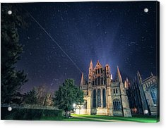 Iss Over Ely Cathedral Acrylic Print