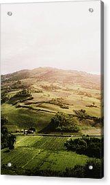 Italian Hill Acrylic Print by Antonio Zarrillo