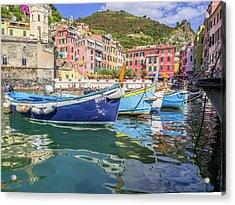 Italian Riviera Old Fashion Fishing Acrylic Print by Guy Midkiff