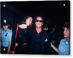 Jack Nicholson, Anjelica Huston Acrylic Print by Art Zelin