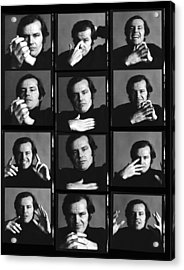 Jack Nicholson Contact Sheet Acrylic Print by Jack Robinson