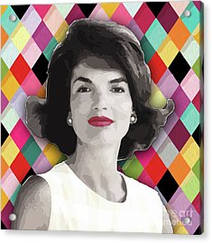 Acrylic Print featuring the painting Jackie Geometric by Carla B