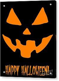 Jackolantern Happy Halloween Pumpkin Acrylic Print