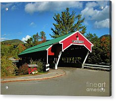Acrylic Print featuring the photograph Jackson Covered Bridge by Debbie Stahre