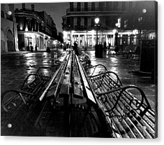Jackson Square In The Rain Acrylic Print