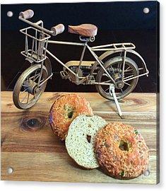 Jalapeno Cheddar Sourdough Bagels Acrylic Print
