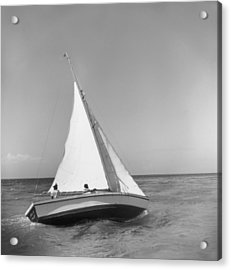 Jamaica Sea Sailing Acrylic Print by Slim Aarons