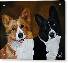 James And Joy Custom Portrait Painting Acrylic Print