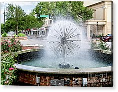 James Brown Blvd Fountain - Augusta Ga Acrylic Print